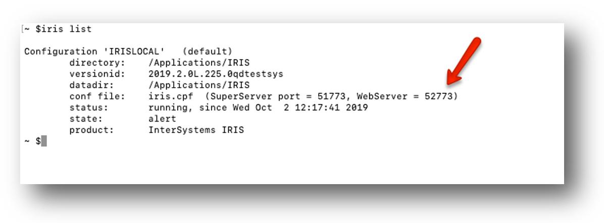 WebServer port